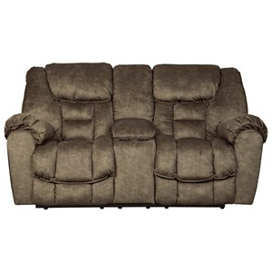Double Reclining Loveseat w/ Console w/ USB Charging & Power Outlets