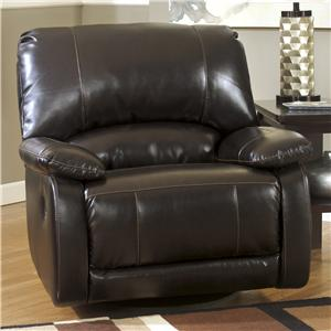 Signature Design by Ashley Capote DuraBlend® - Chocolate Swivel Glider Recliner