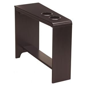 Chair Side End Table with 2 Cup Holders, Powerstrip, & USB Charging