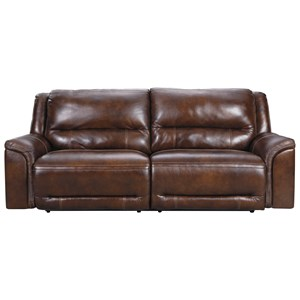 2 Seat Power Reclining Sofa with USB Port and Adj Headrests