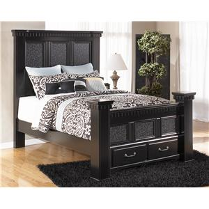 Signature Design by Ashley Furniture Cavallino Queen Masion Bed with Storage Footboard