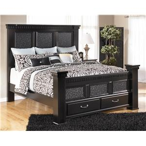 Signature Design by Ashley Furniture Cavallino King Mansion Bed with Storage Footboard