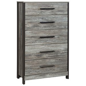 Modern Rustic Five Drawer Chest