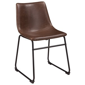 dining upholstered side chair with bucket seat