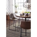 Round Dining Room Counter Table