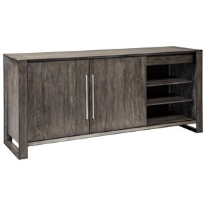 Contemporary Dining Room Server with Adjustable Shelves and Drawers