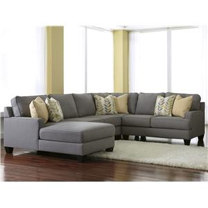 Signature Design by Ashley Chamberly - Alloy 4-Piece Sectional Sofa with Left Chaise