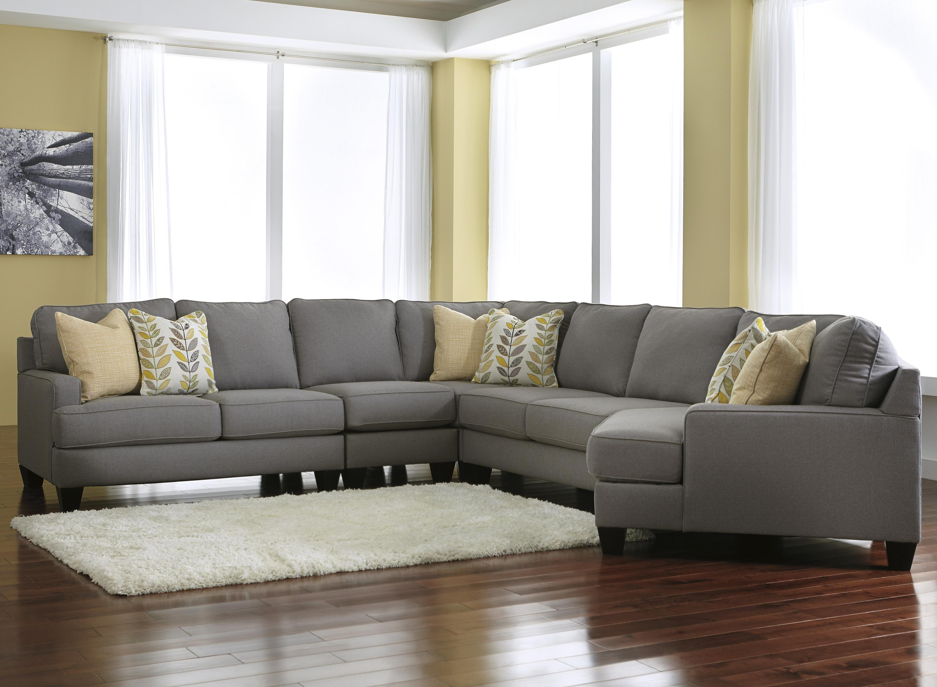 Modern 5 Piece Sectional Sofa with Right Cuddler & Reversible Seat