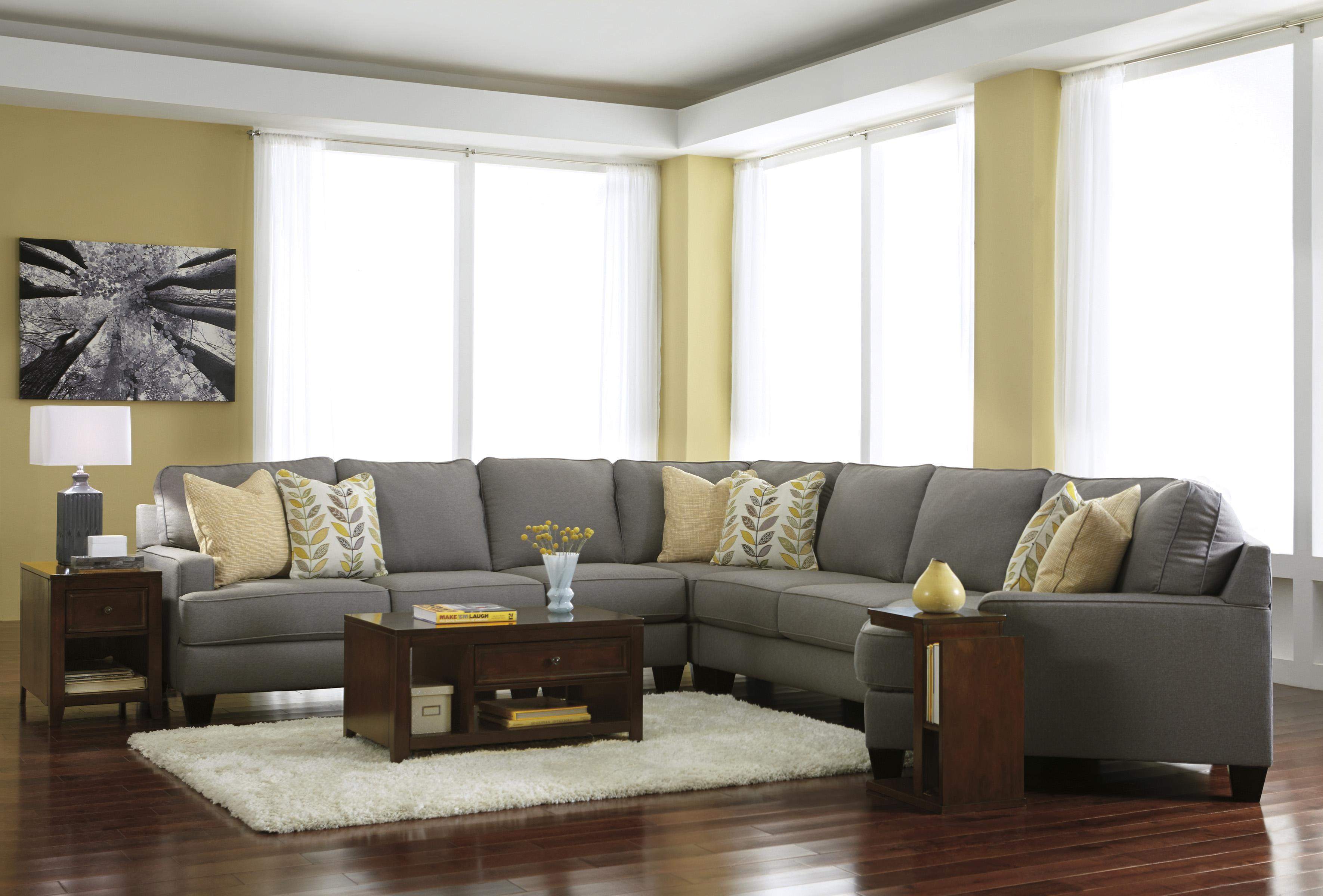 Modern 5-Piece Sectional Sofa with Right Cuddler & Reversible Seat ...