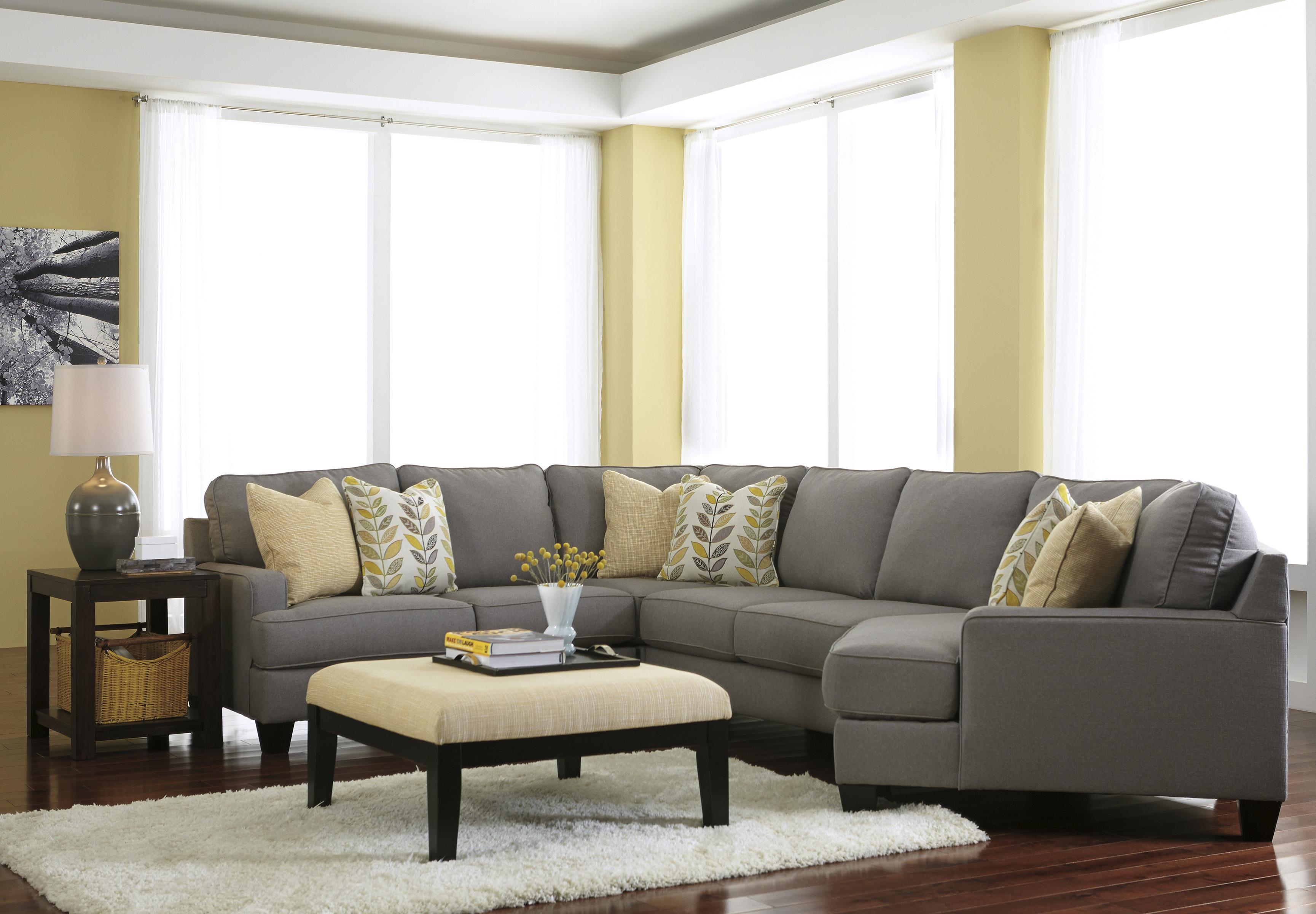 Modern 4 Piece Sectional Sofa With Right Cuddler