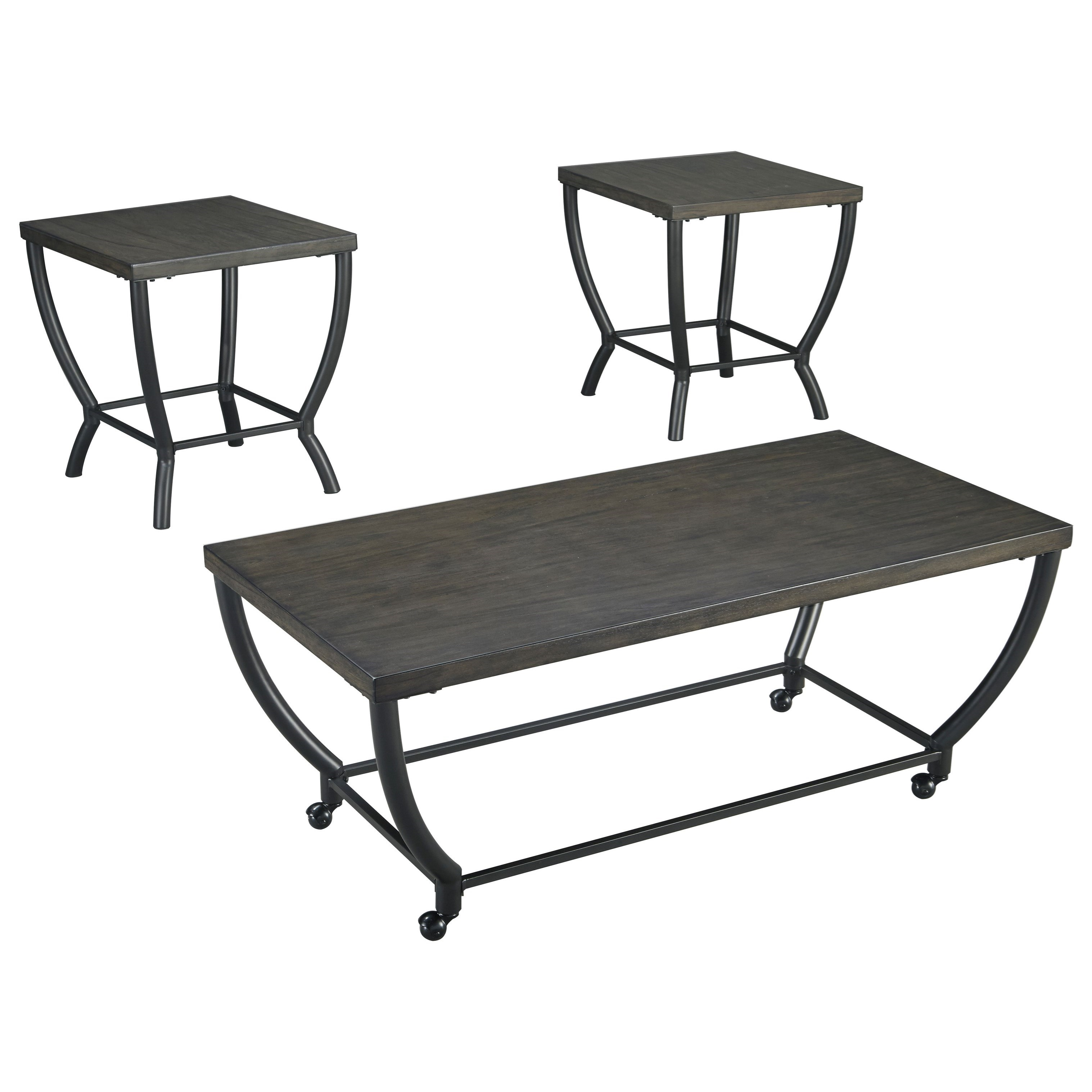 contemporary occasional table set by signature design by ashley  - contemporary occasional table set