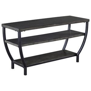 Contemporary Metal/Wood TV Stand