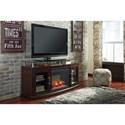 Medium TV Stand with Fireplace Insert