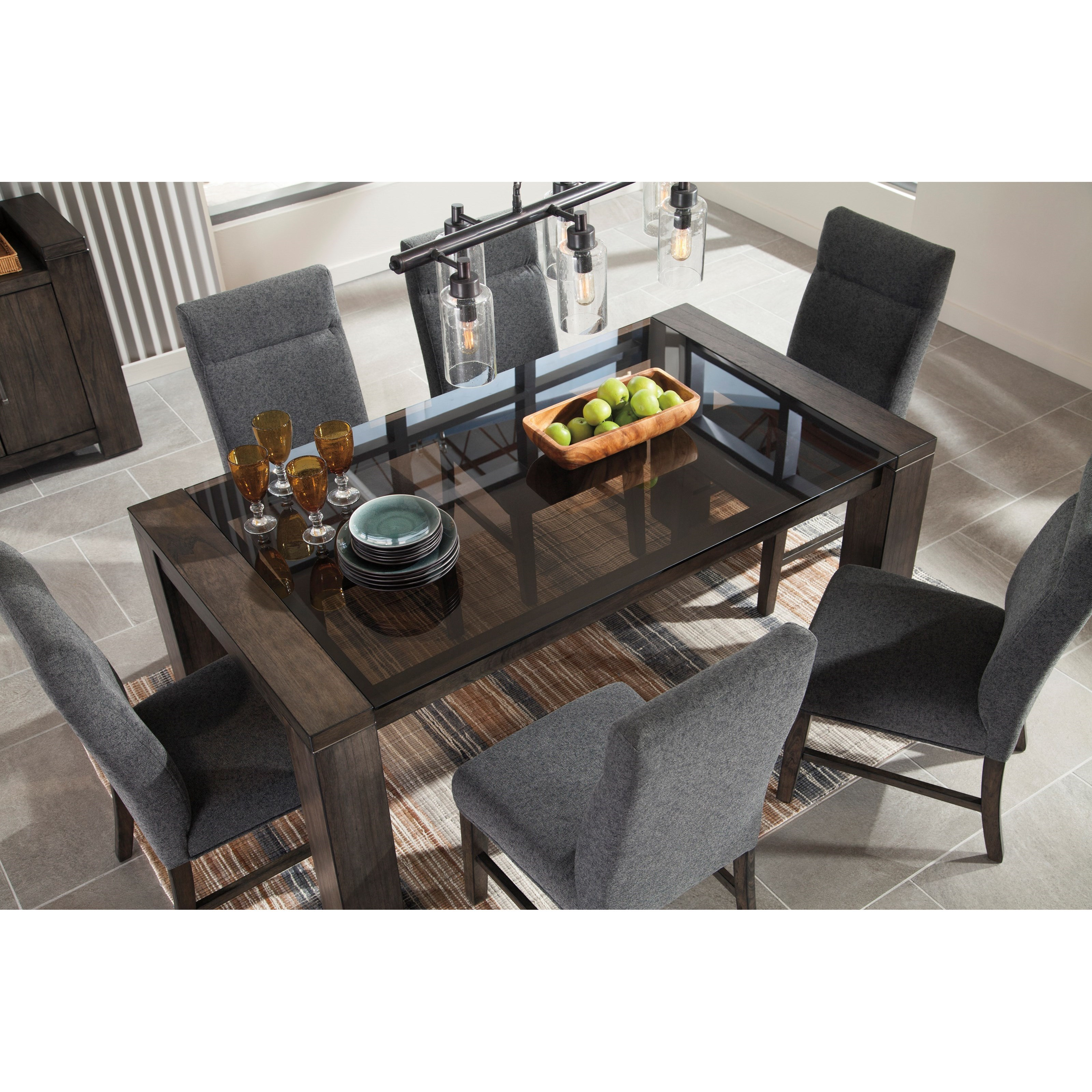 glass top dining room table wood rectangular dining room table with glass top contemporary by