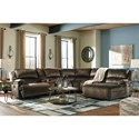 Recl. Sectional with Chaise & Console