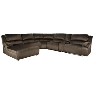 Reclining Sectional with Chaise & Console