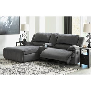 Power Reclining Sectional w/ Chaise & Console