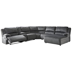 Power Reclining Sectional with Chaise & Console