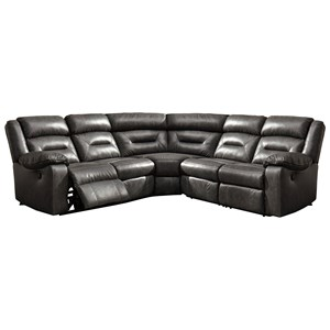 Faux Leather Power Reclining Sectional