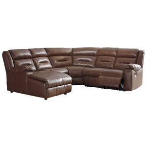 5-Piece Sectional with Zero Wall Recliner