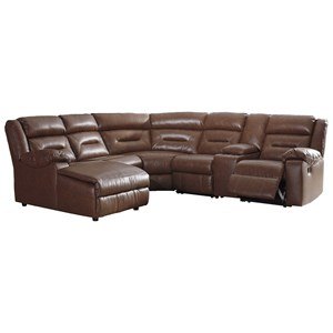 6-Piece Sectional with Storage Console and Chaise