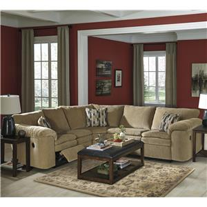 Signature Design By Ashley Coats 3 Piece Reclining Sectional