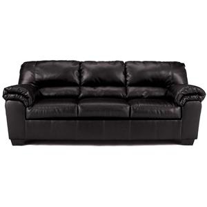 Casual Stationary Faux Leather Sofa