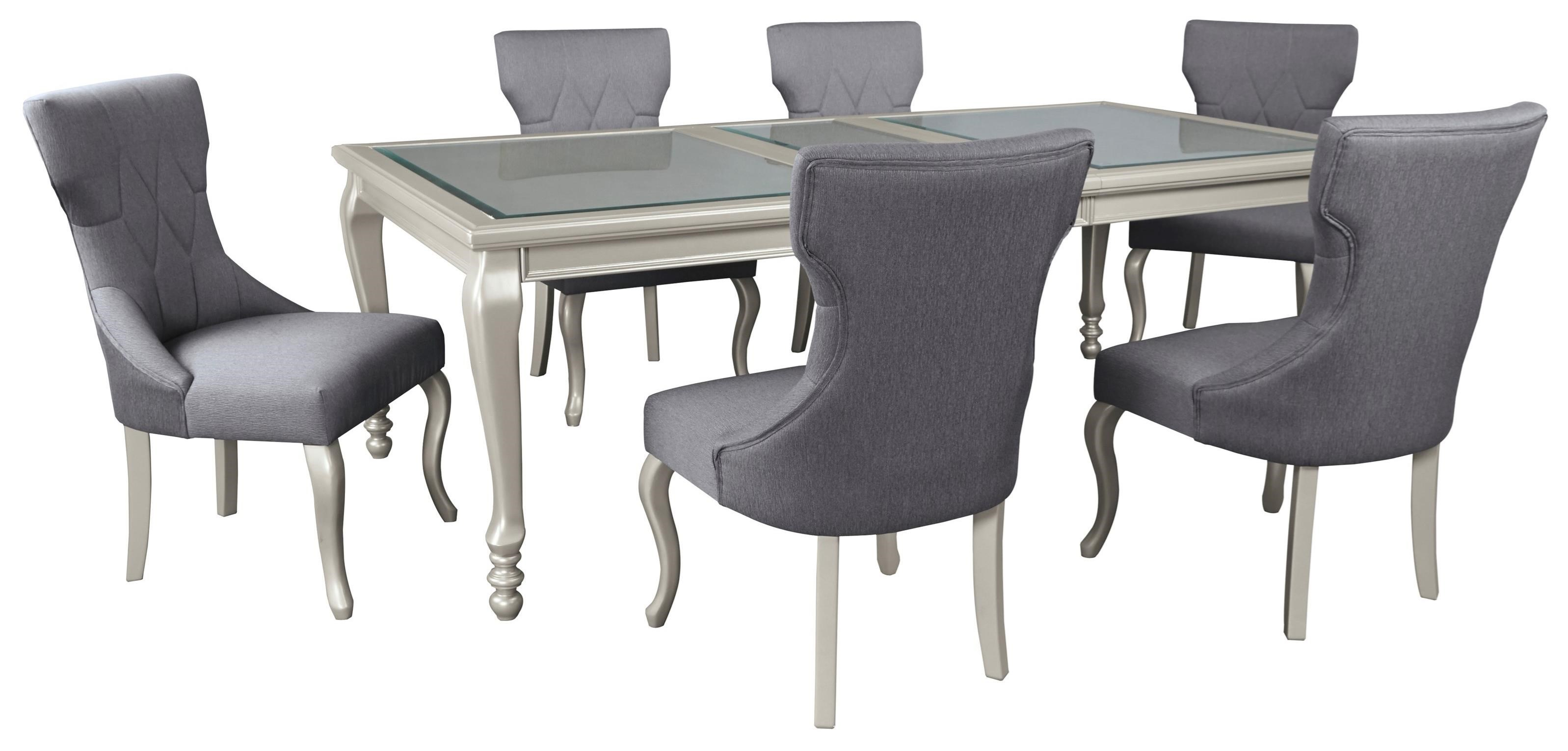 7 Piece Rectangular Dining Room Extension Table Set By