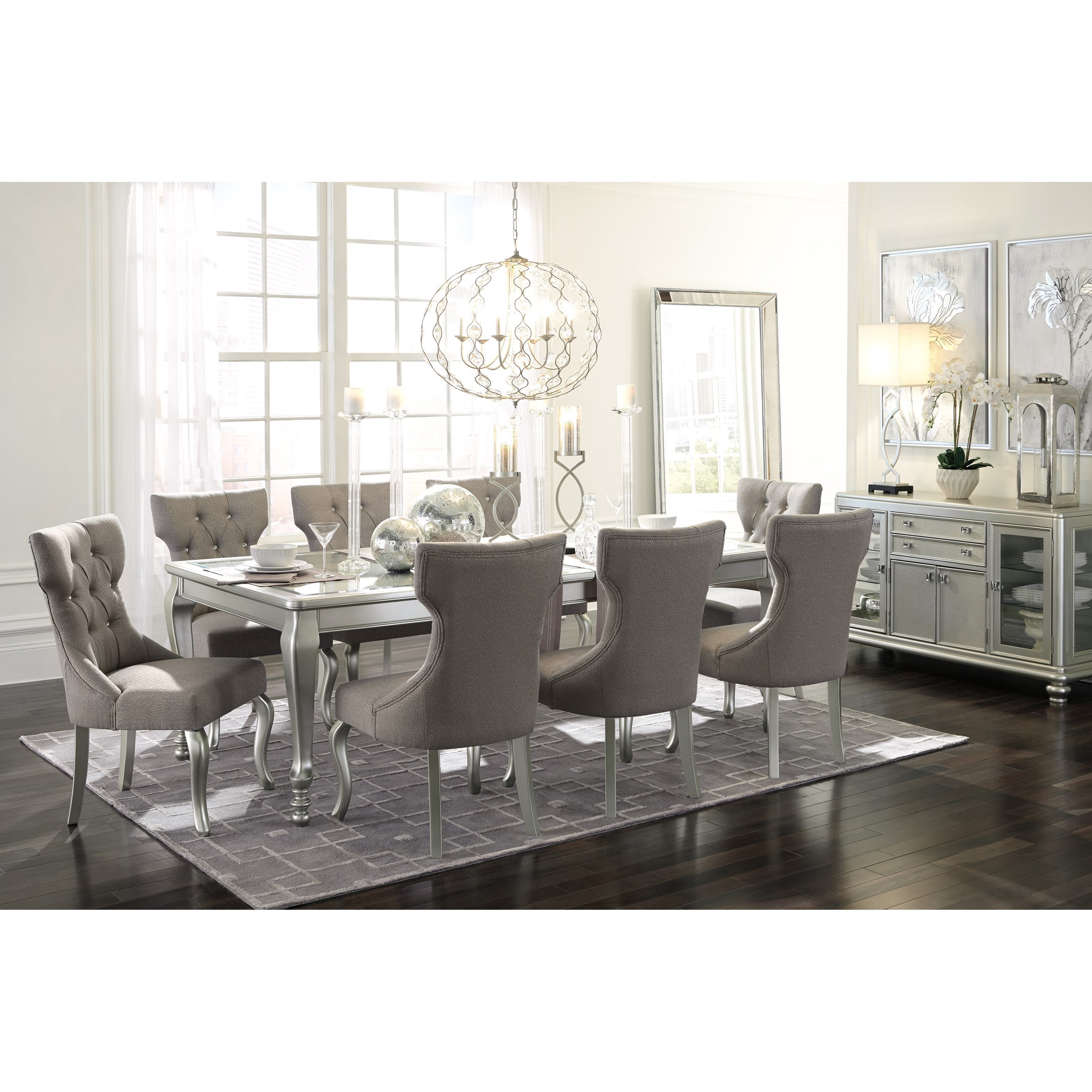 Dining Room Table Extension: Rectangular Dining Room Extension Table With Glass Inserts