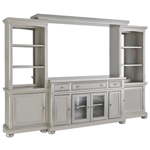 Glam 4 Piece Wall Unit