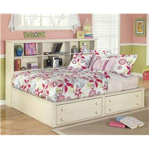 Signature Design by Ashley Furniture Cottage Retreat Full Bookcase Bed with Footboard Storage