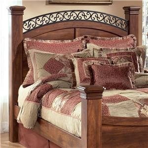 Signature Design by Ashley Timberline King Poster Headboard Panel & Posts