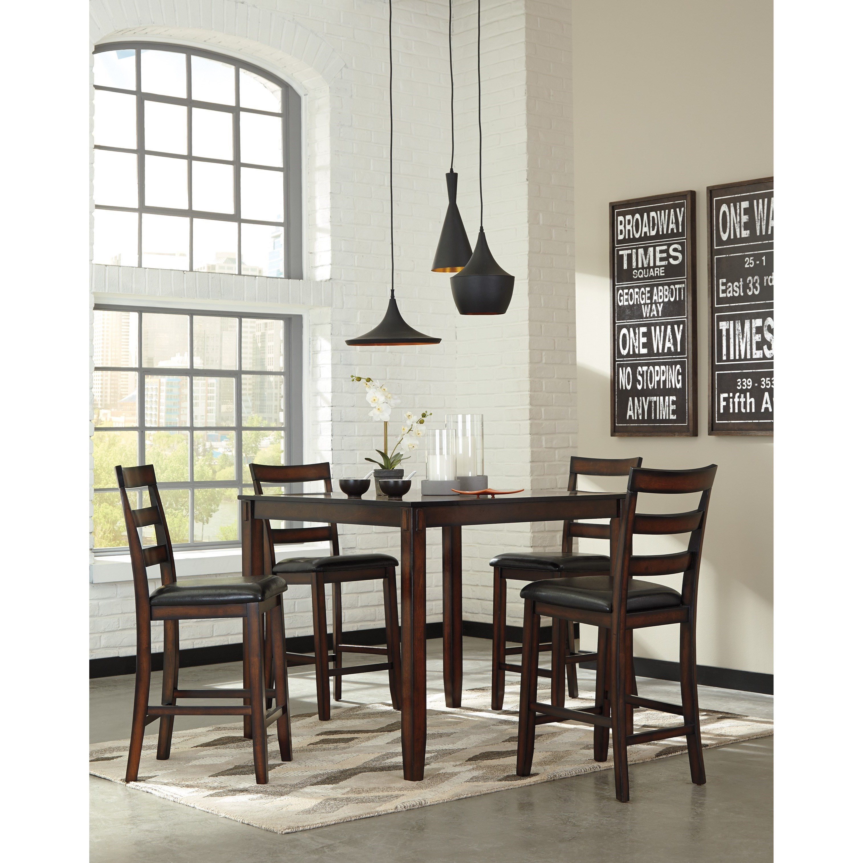 5 Piece Dining Room Counter Table Set