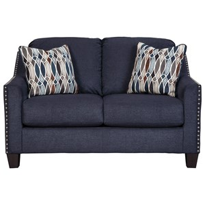 Loveseat with Nailhead Studs