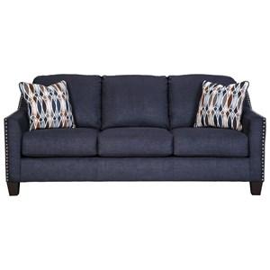 Memory Foam Sofa Sleeper with Nailhead Studs