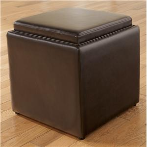 Ottoman with Storage, Flip Tray, and Cube Footstool