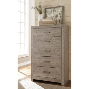 Contemporary Dresser Chest with 5 Drawers