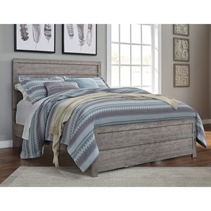 Contemporary Full Bed with Low-Profile Footboard