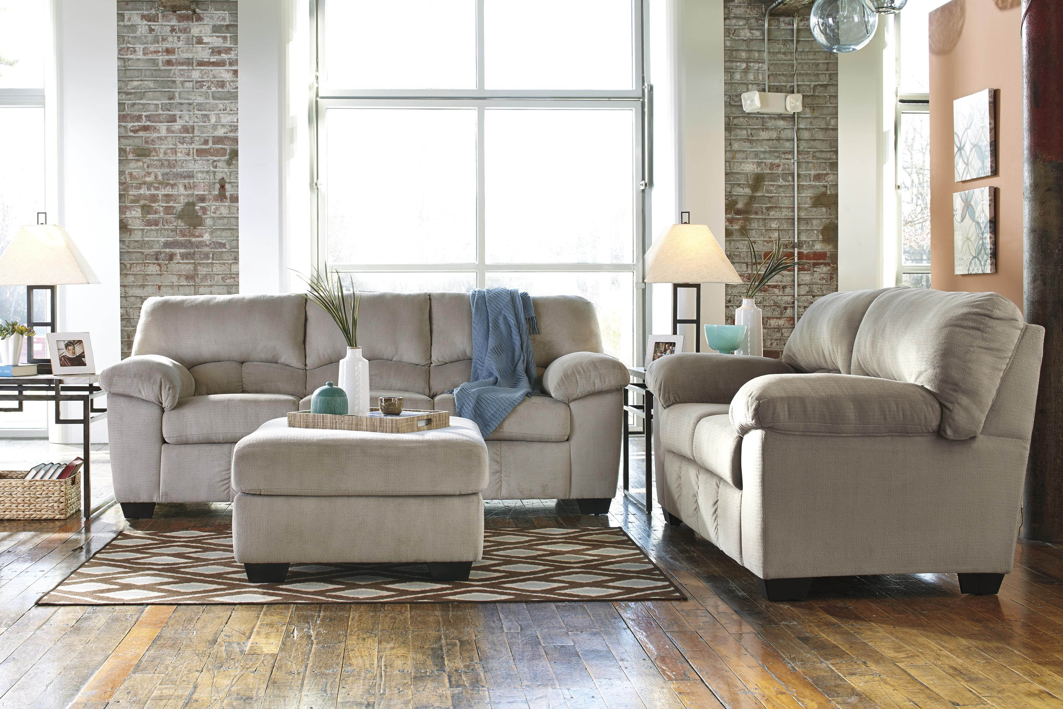 Casual Contemporary Sofa By Signature Design By Ashley Wolf And Gardiner Wolf Furniture