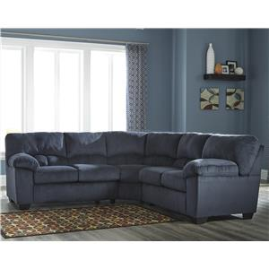 Casual Contemporary Corner Sectional