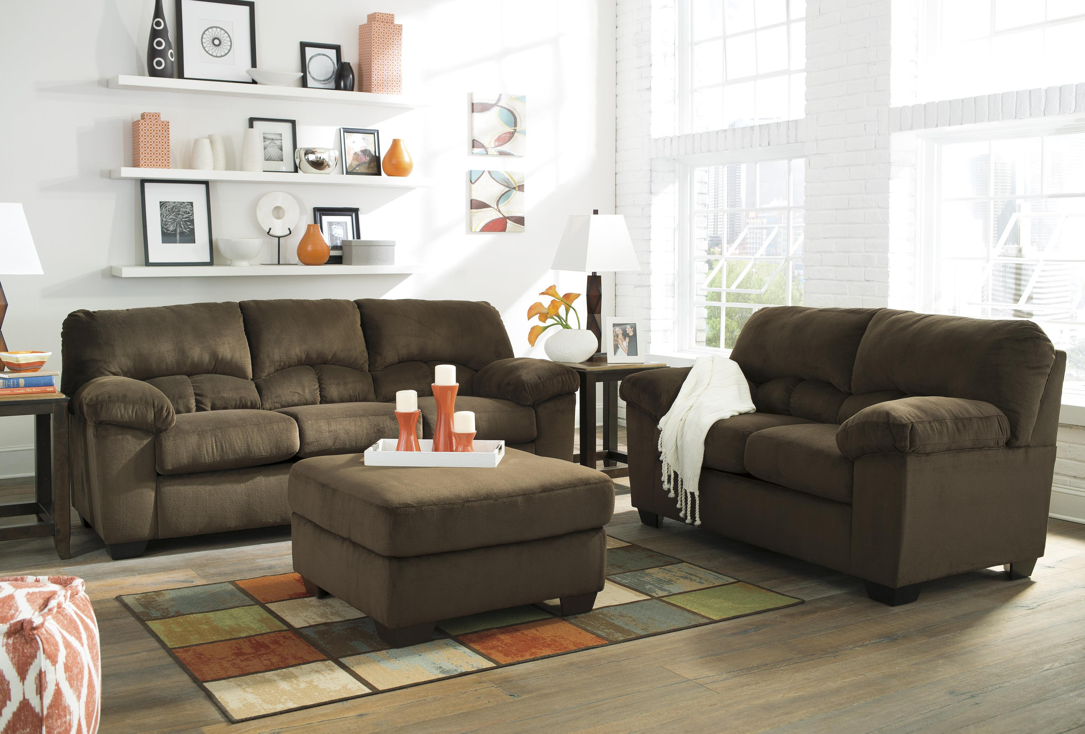 Casual Contemporary Loveseat By Signature Design By Ashley