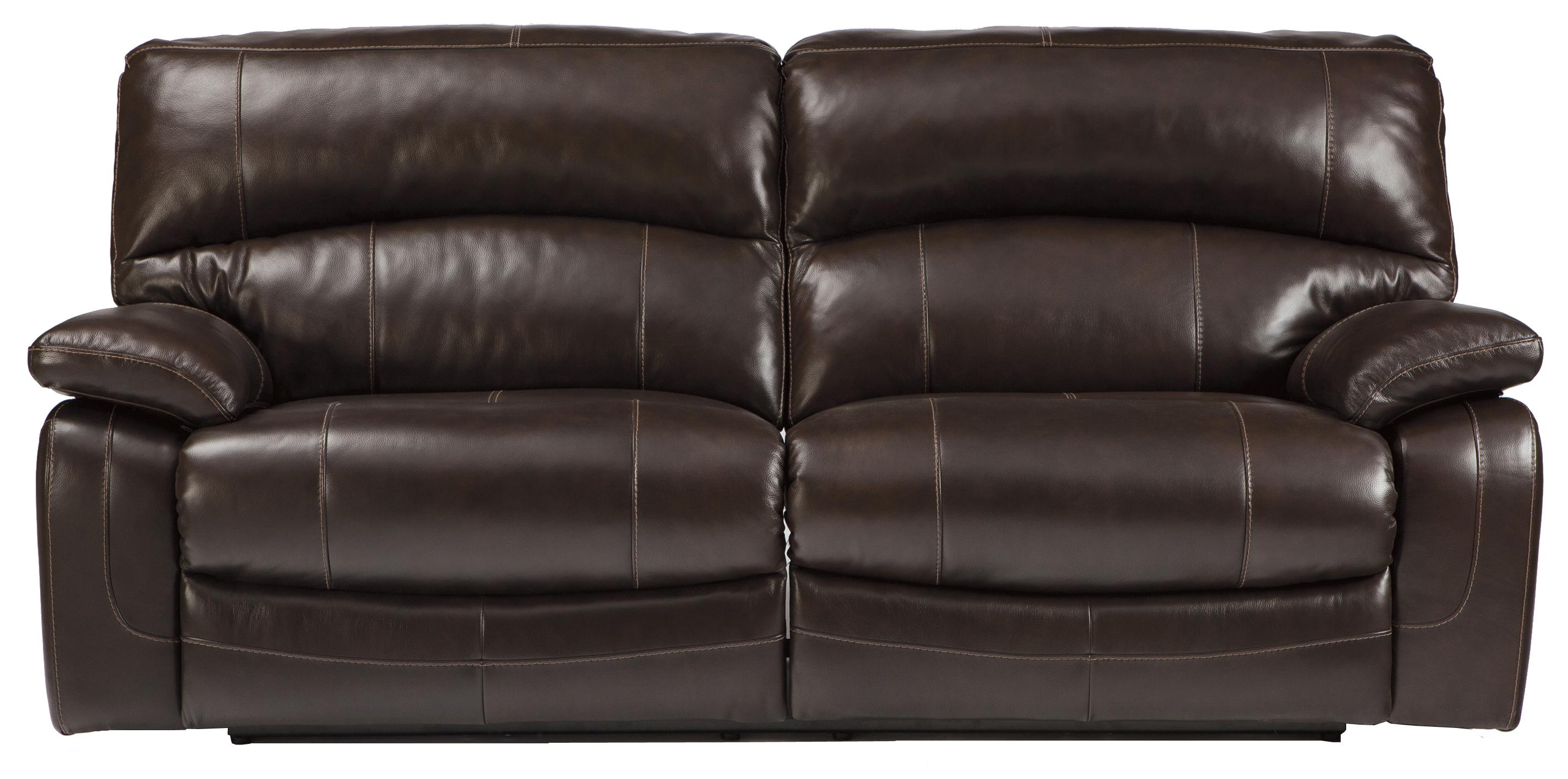 Leather Match 2 Seat Reclining Power Sofa By Signature Design By  ~ Power Reclining Leather Sofa