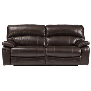 Signature Design by Ashley Damacio - Dark Brown 2 Seat Reclining Power Sofa