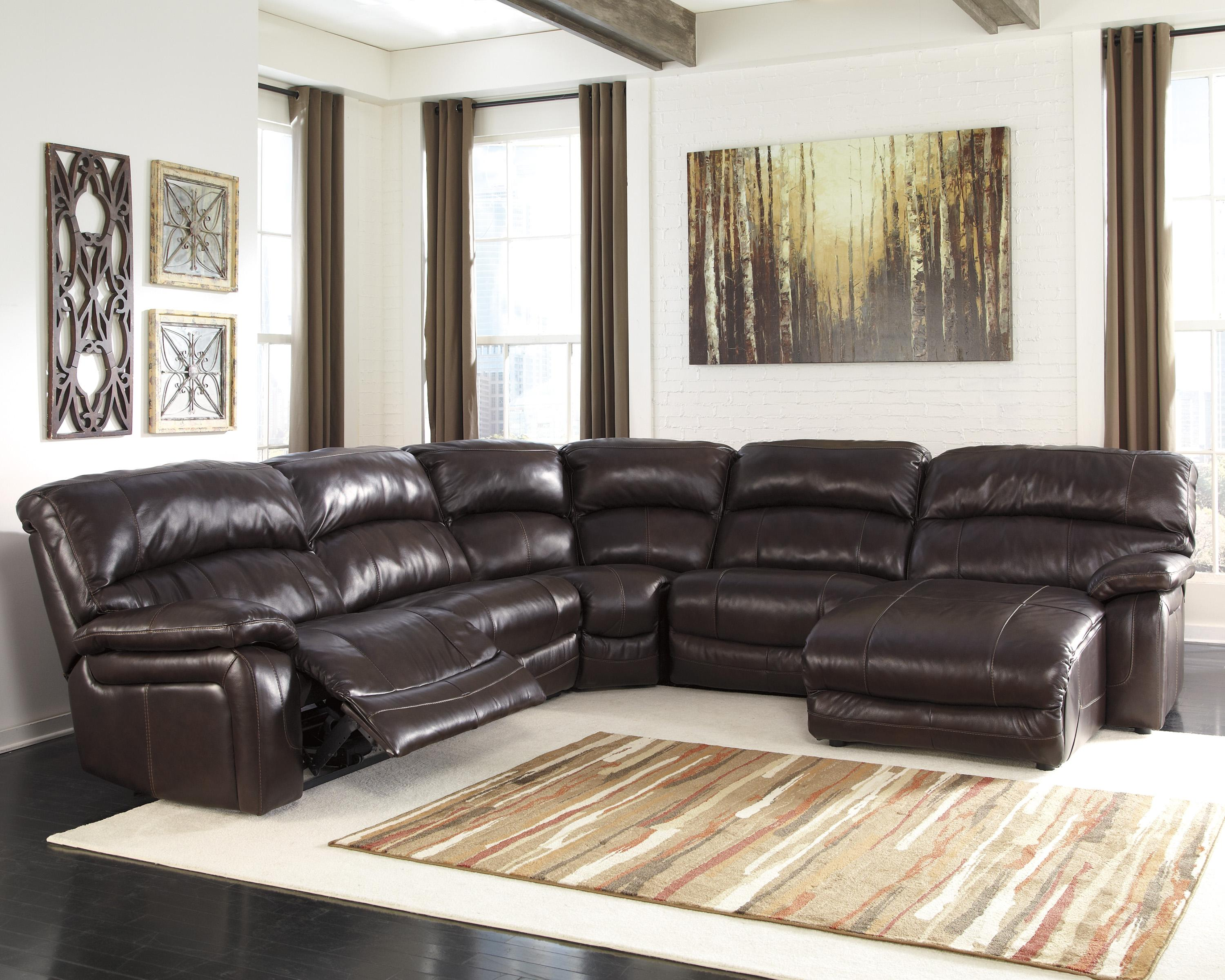 Reclining Sectional With Right Press Back Chaise By Signature  ~ Reclining Sectional Sofa With Chaise Lounge