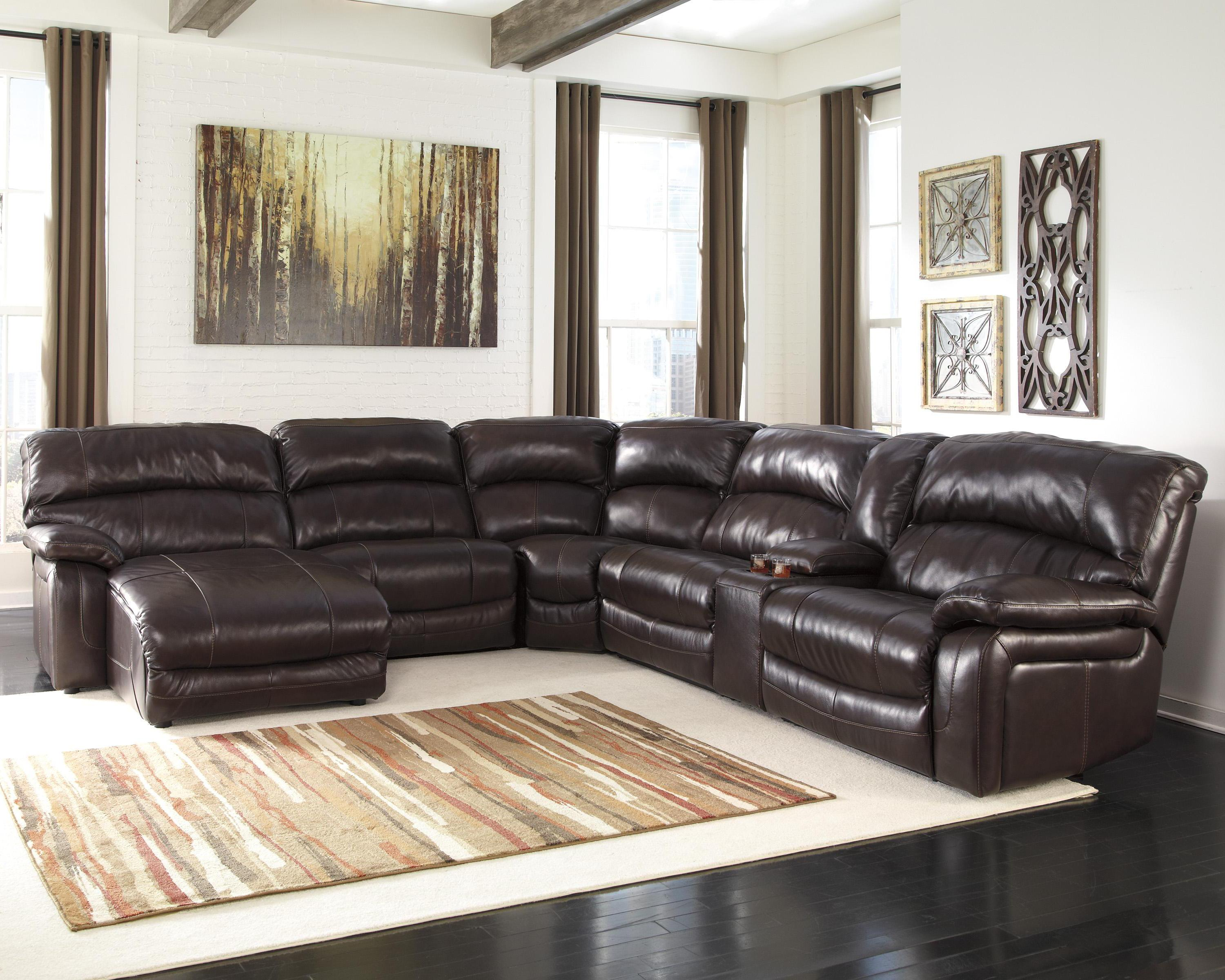 Reclining Sectional w/ Console u0026 Right Press Back Chaise & Reclining Sectional w/ Console u0026 Right Press Back Chaise by ... islam-shia.org
