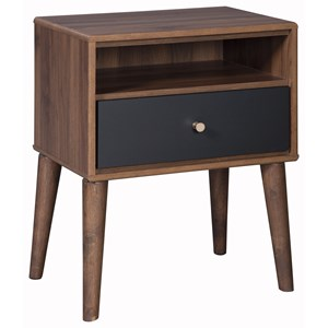 1-Drawer Nightstand with USB Port