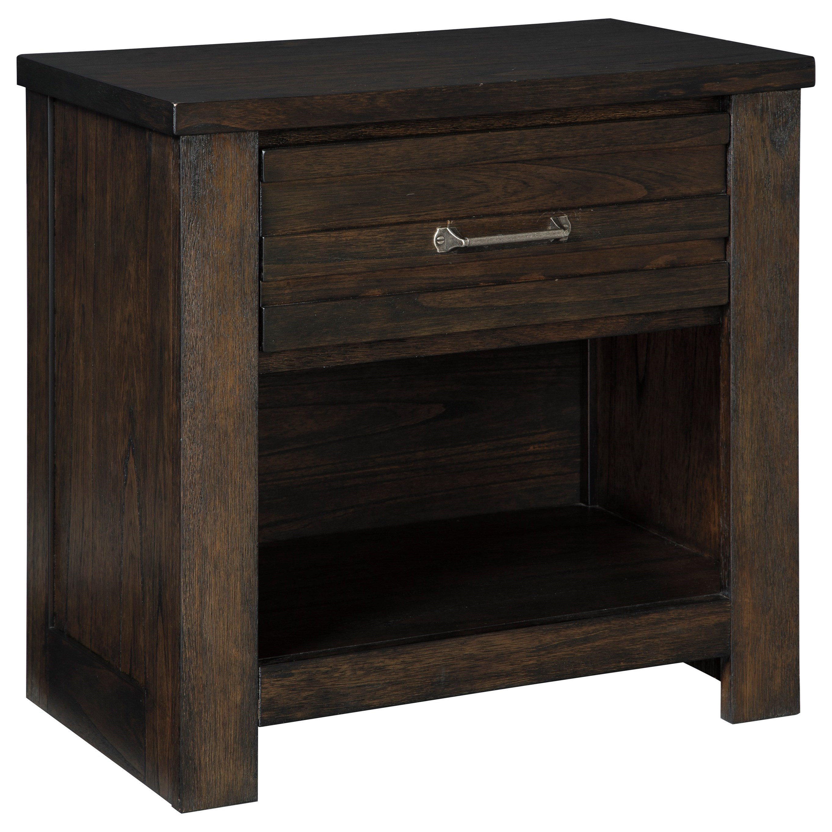 Contemporary One Drawer Night Stand with Shelf