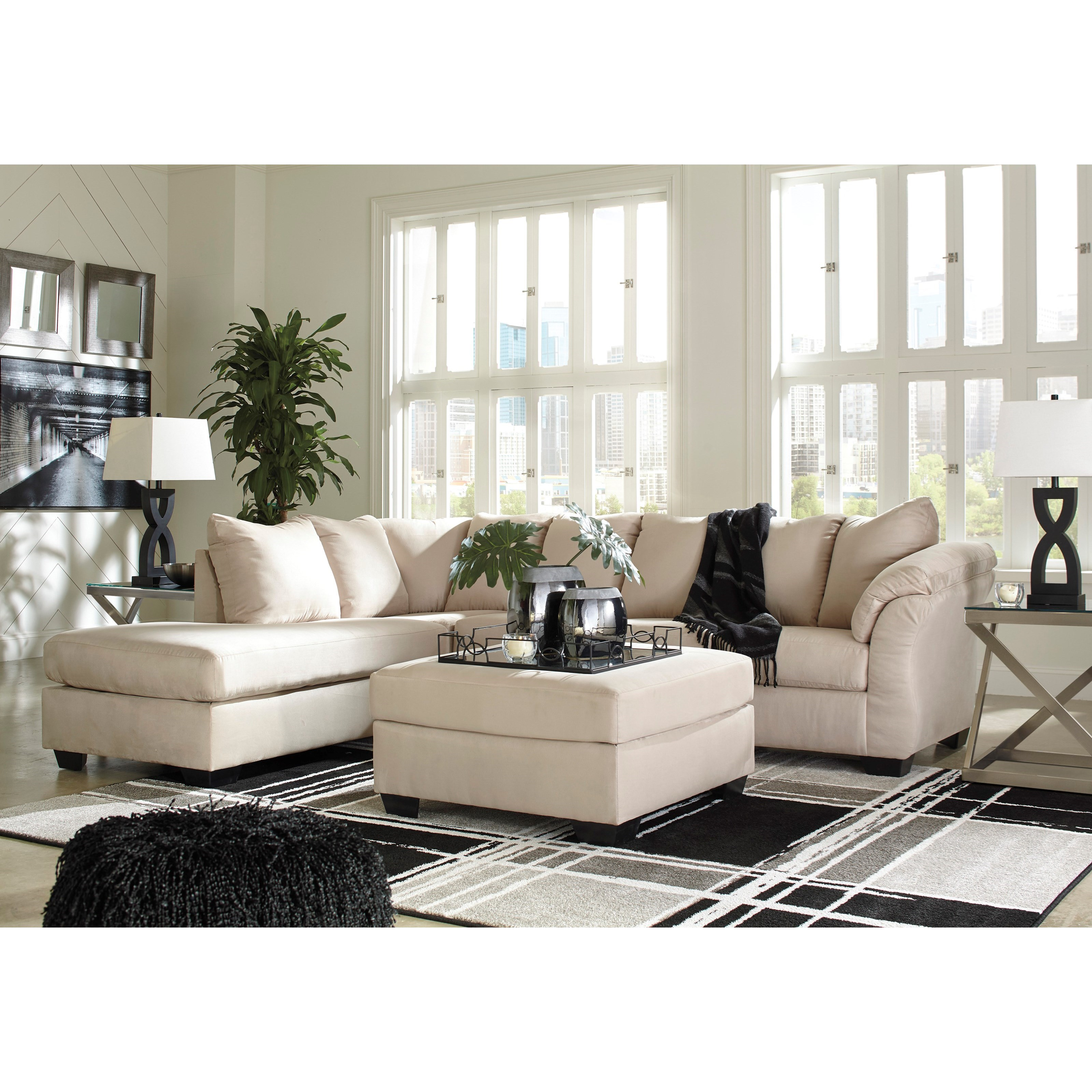 Contemporary Sectional Sleeper Sofa with Left Chaise by ...
