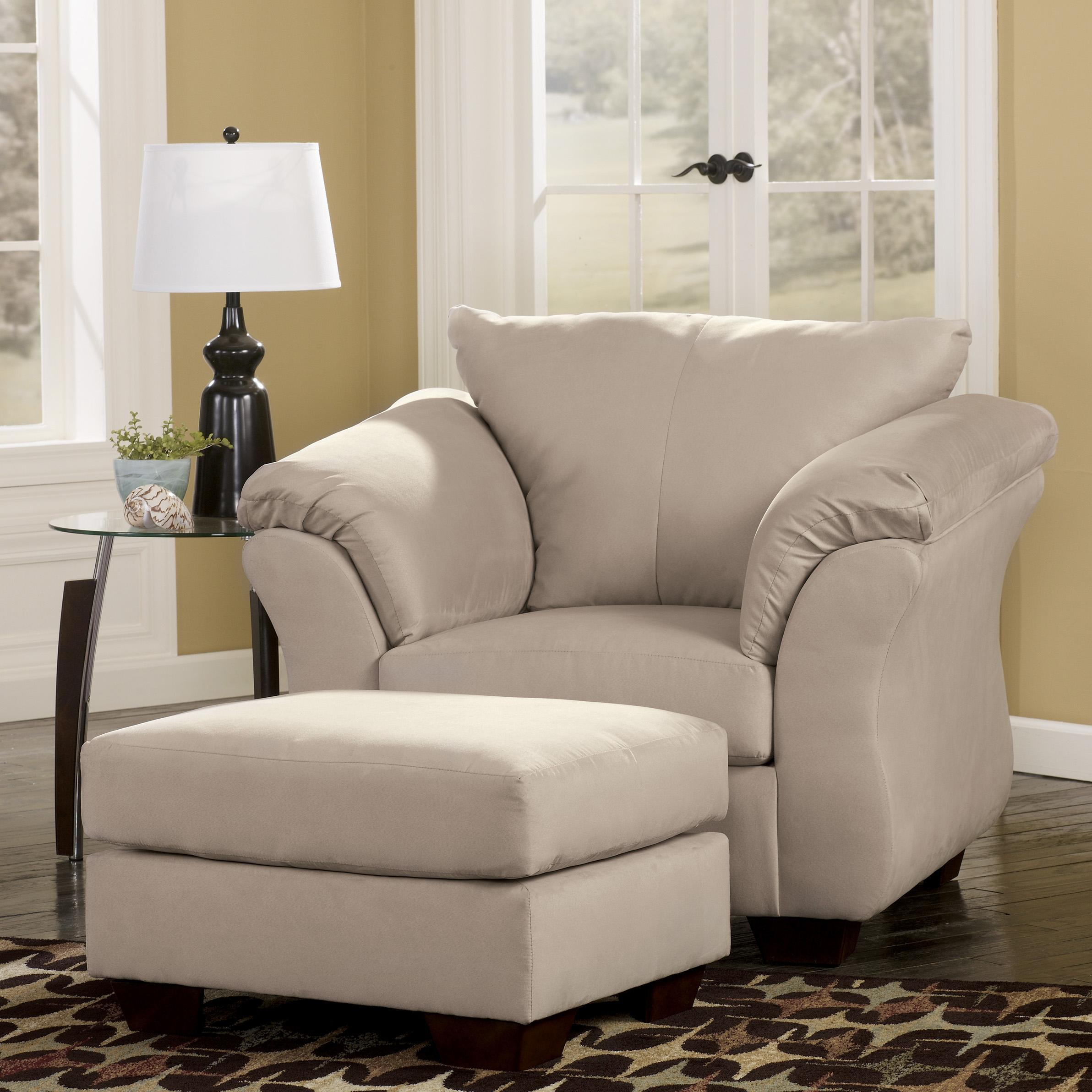 Upholstered Chair And Ottoman contemporary upholstered chair and ottoman with tapered legs
