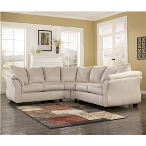 Signature Design by Ashley Darcy - Stone Sectional Sofa